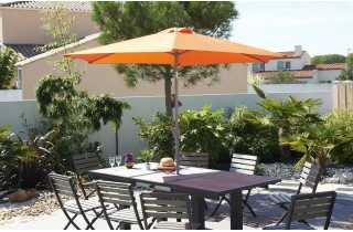 Parasol 2m70 inclinable à manivelle ORANGE