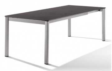 Table extensile Puroplan Gris graphite 165/225/285X95cm